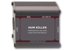 RDL AV-HK1X Hum Killer Audio Isolation Transformer (Transformer Mono Audio Isolation)