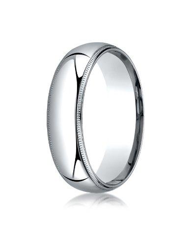 mens platinum milgrain ring - 3