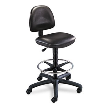 Safco Precision Drafting Chair, 25quot;x25quot;x42quot;-54quot;, Black Vinyl (Chair Safco Drafting Precision)