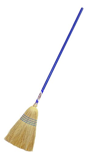 Magnolia Brush 15018-Boxed Corn/Fibre Fan Shaped Good-Value Broom with Blue Handle (Case of 12) by Magnolia Brush