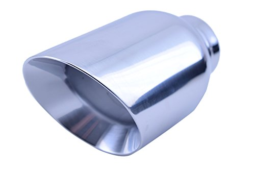 Polished Stainless Steel Exhaust Tip - Inlet: 2