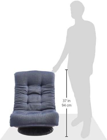 Amazonbasics Swivel Foam Lounge Chair - with Headrest, Adjustable, Denim