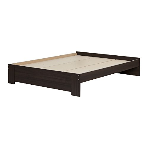 South Shore Reevo Queen Platform Bed (60''), Matte Brown