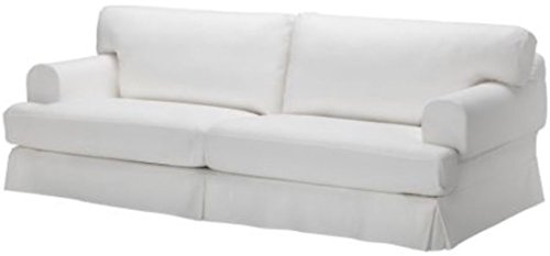 Durabale Dense Cotton Three Seat Hovas Sofa Cover Replacement is Custom Made for IKEA Hovas 3 Seater Slipcover Only (Hovas White) by Custom Slipcover Replacement (Image #2)