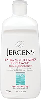 Jergens Extra Moisturizing Liquid Hand Wash Refill, 16 Ounces (Pack of 3)