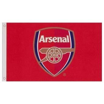 (Arsenal FC Flag CC - Approx. 3' x 5' Large Team Crest)