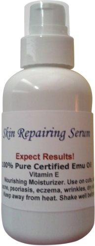 100% Pure Certified Moisturizing Skin Repairing Emu Oil Max/ 2 oz with a Treatment Pump