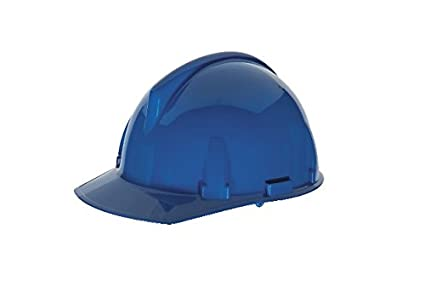 MSA Safety 475380 topgard ranurado tapa protectora con FAS-TRAC Suspensión, estándar, color azul: Amazon.es: Amazon.es