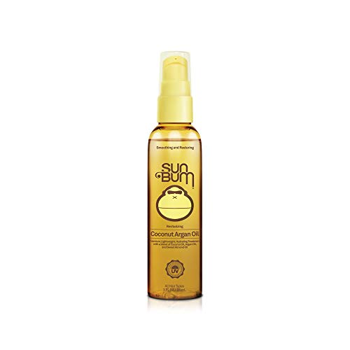 Sun Bum Revitalizing Coconut Argan Oil - Hair Conditioning Treatment - Hydrating - Frizz Control - Paraben Free - Gluten Free - Vegan - 3 oz Pump Bottle - 1 Count