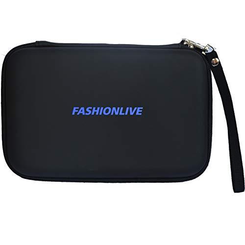 "7"" GPS Carrying Case Hard Shell Travel EVA Bag Zipper Cover Pouch for 6"" 7"" Garmin Navigation Nuvi Tomtom Magellan Mio (Black)"
