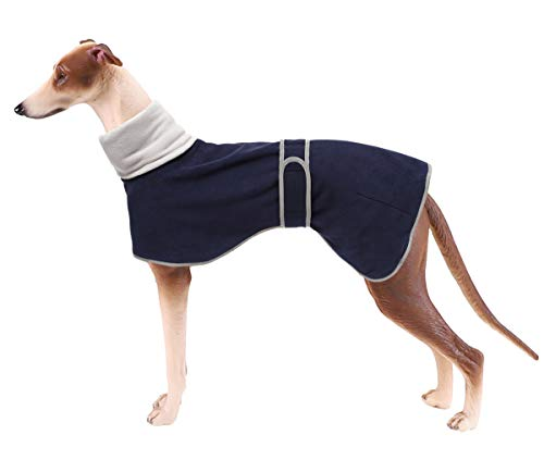 Greyhound Cosy Fleece Jumper, Dog Winter Coat with Warm Fleece Lining, Outdoor Dog Apparel with Adjustable Bands for…