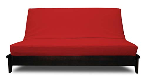 Prestige Furnishings Futon Cover - Premium Solid Red - Handmade in USA - King (78
