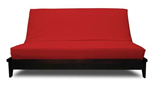 (Prestige Furnishings Futon Cover - Premium Solid Red - Handmade in USA - King (78