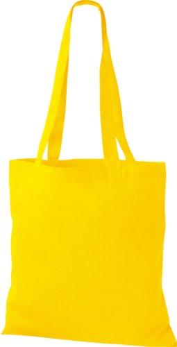 ShirtInStyle Premium Stoffbeutel Baumwolltasche Beutel Shopper Umhängetasche, Farbe yellow