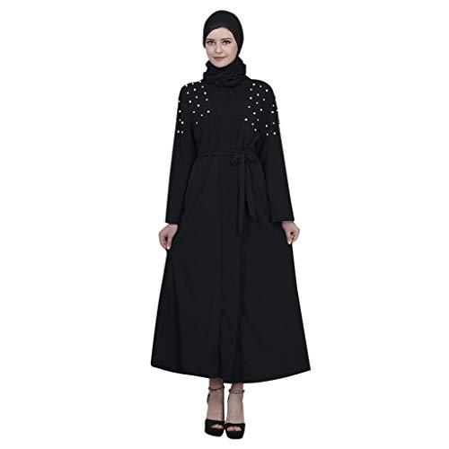 f214969078 Womens Muslim Kaftan, Abaya Long Maxi Party Dress Arab Jilbab Islamic  Ethnic Lace Robe Evening