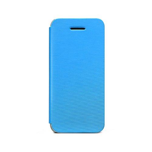 Zenus Color Flip Case/Tasche Hellblau für Apple iPhone 5C