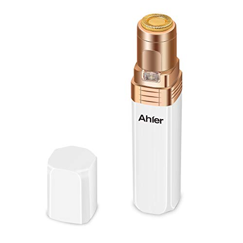Facial Hair Removal for Women, Ahier Electric Painless Hair Trimmer Shaver for Cheek, Lips, Chin and Neck, IPX6...