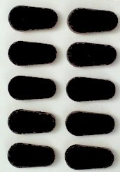 - GMS Self Adhesive Soft Foam Nose Pads (1-10 Nose Pads Total, Black)
