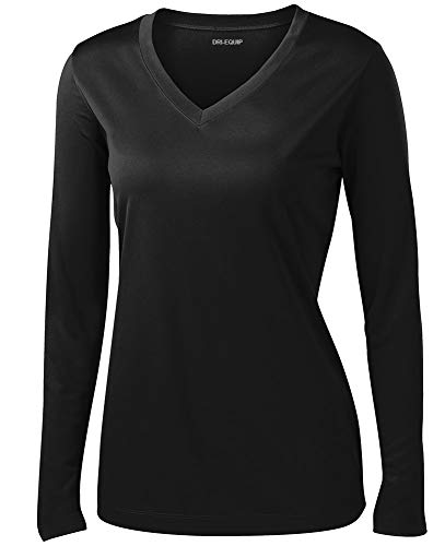 Joe's USA Ladies Long Sleeve Moisture Wicking Athletic Shirts Sizes XS-4XL