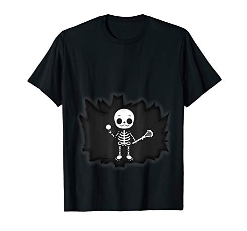 (Baby Lacrosse Skeleton T-shirt Pregnant)