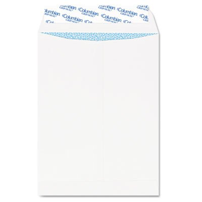 Columbian Grip-Seal Security Tinted Catalog Envelopes, 10 x 13, 28lb, White Wove, 100/Box by Columbian Envelopes