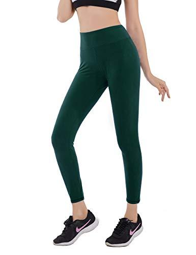 SVOKOR 8cm High Waisted Super Soft Basic Leggings for Women-4 Way Stretchy Daily-Wear Casual Leggings Yoga Pants (Green, XXL)]()