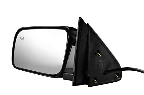 Driver Side Painted Black, Heated, Power Operated, Side View Mirror for 1988-2000 C/K 1500 Chevy GMC Truck Suburban - Parts Link #: GM1320276 ()