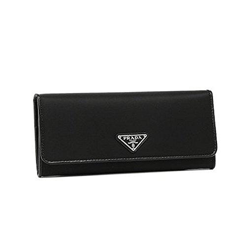 Prada Women's Tessuto Black Wallet 1MH132 by Prada