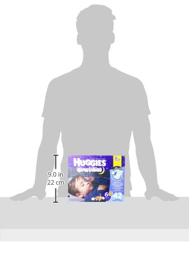Large Product Image of HUGGIES OverNites Diapers, Size 6 for over 35 lbs., Pack of 42 Overnight Baby Diapers