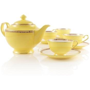 Teavana Noble Poppy Bone China Tea Set