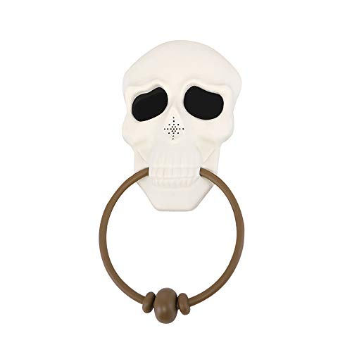click-me Halloween Doorbell Haunted House Eye Horror and Scary Sounds Tricky Toys Kids Gift for Party Bar Door Decor (White Skull) ()