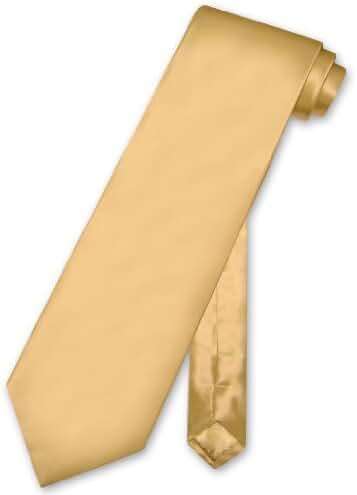 Biagio 100% SILK NeckTie Solid GOLD Color Men's Neck Tie