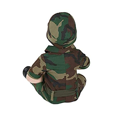 Infantry Soldier Infant Costume - 0/3mo Green: Clothing