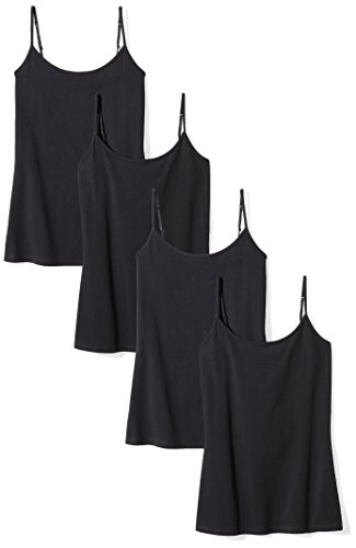 - Amazon Essentials Women's 4-Pack Camisole, Black, Medium