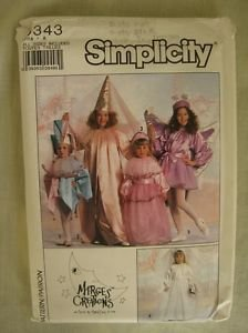 Simplicity 9343 Costume Pattern Jester, Princess, Bride & Fairy Child Sz 3-14 -