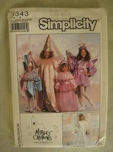 Simplicity 9343 Costume Pattern Jester, Princess, Bride & Fairy Child Sz 3-14 - Jester Costume Pattern