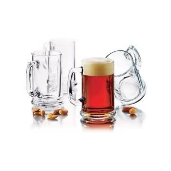 this item traditional elegant glass beer mugs set of 6 - Glass Beer Mugs