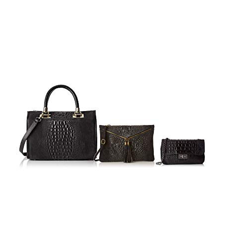 Borse Bundle Made In Chicca Noir Sacs Italy En Cuir UXadIq