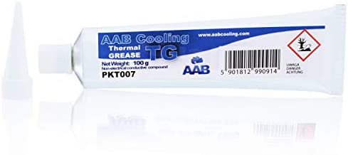 AABCOOLING Thermal Grease 100g - Wärmeleitpaste Weiß - Mit Hoher Wärmeleitfähigkeit für Alle CPU-PC Kühler-Lüfter Prozessor, Wasserkühlung, Notebook - Niedriger Thermischer Wiederstand, Wärmeleitpad