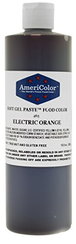 ELECTRIC ORANGE 13.5 Ounce Soft Gel Paste Food Color by Amer