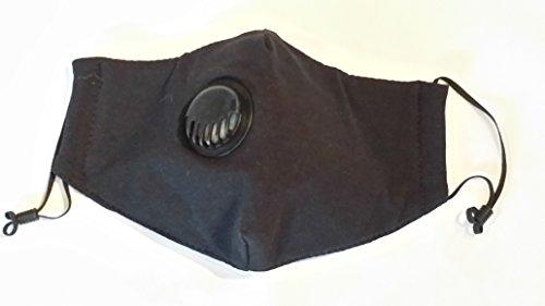 Organic-Cotton-M11-Anti-virus-Mask-Black-w-Exhaust-Valve