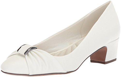- Easy Street Women's Eloise Pump, White, 9 W US