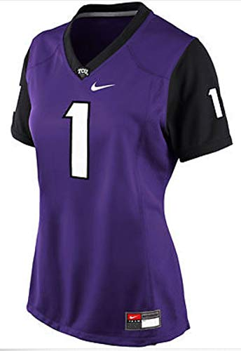 Nike TCU Horned Frogs Womens #1 Home Football Jersey (Large) Purple