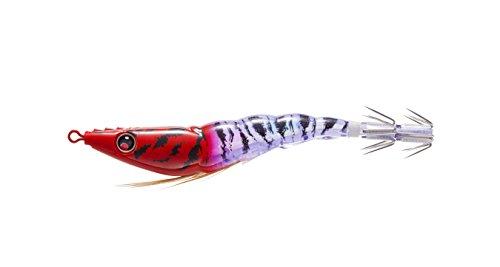 """Yo-Zuri Duel Squid Jig EZ-Slim Aurora Lure, 3 1/8"""", Red Head UV"""