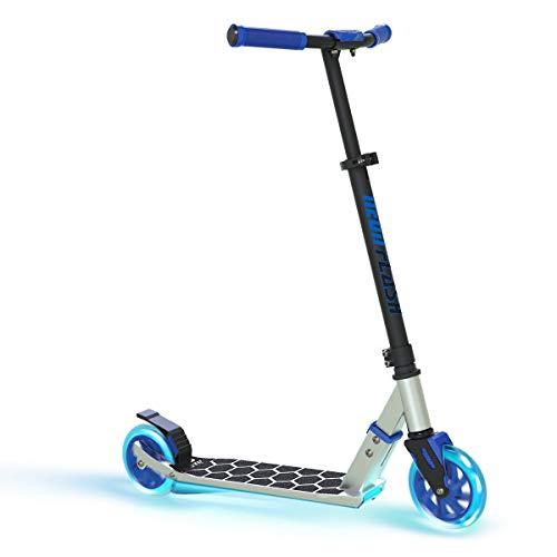 Scooter de neón para niños con luces LED | Patinete con ruedas y cubierta iluminada