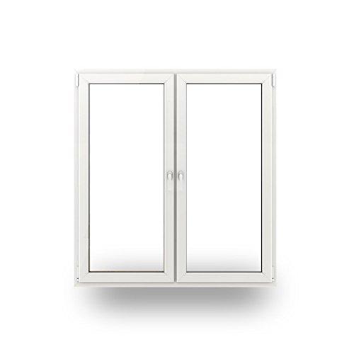 2-flg. Balkon- Terrassentür - 1900x2100mm - mit Pfosten - 70mm - mit Pfosten Profil - 3-fach-Verglasung - verschiedene Maße