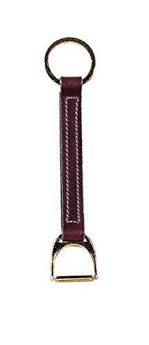 Tory Leather Strap Style Stirrup Key Ring With Brass Stirrup