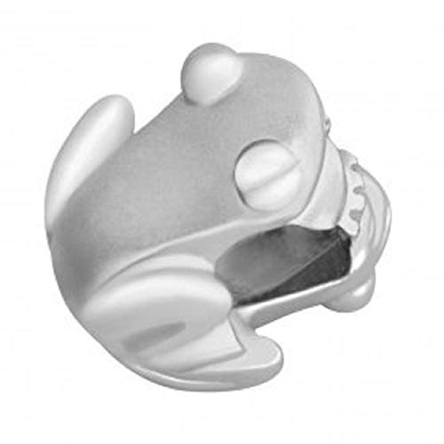 Coquí (Tree Frog) Sterling Silver .925 Bead/Charm Reversible Finish- High Polish One Side and Matte Other Side