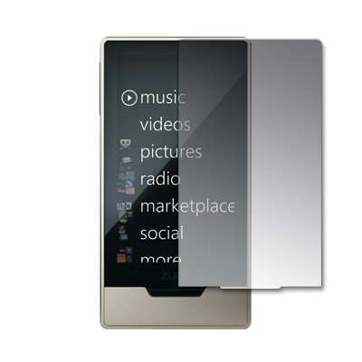 Crystal Clear Screen Protector for Microsoft Zune HD 16 GB / 32 GB Platinum [Accessory Export Packaging]