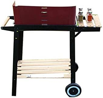 ZJSK Einfache Grills Set Holzkohlegrill Outdoor Edelstahl Grill Home Portable Grill Herd